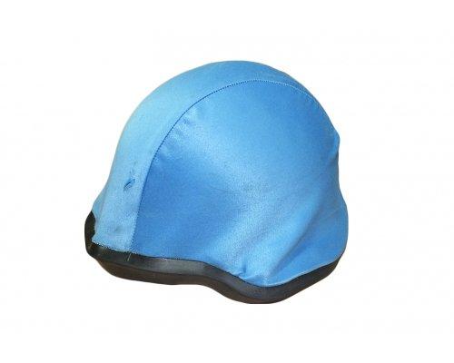 Чехол AT, на каску, светло-синий б\у