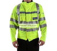 Куртка GB полицейская, светоотражатели, до пояса б/у