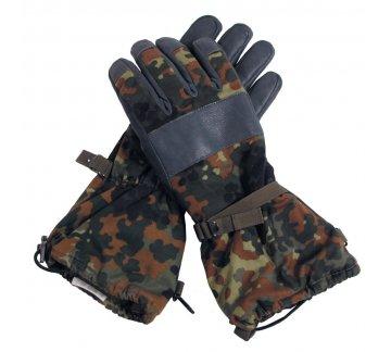Перчатки BW теплые с подкладкой flecktarn кожа б/у