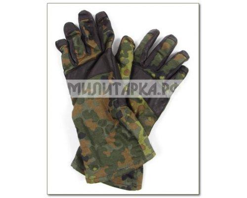 Перчатки BW легкие flecktarn кожа б/у