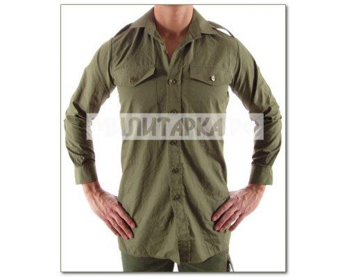 Рубашка GB зеленая длин рукав б/у