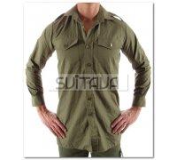Рубашка GB беж., зелен, длин рукав новая